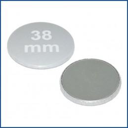 Buttons bedruckt 38mm mit flacher Metallrückseite