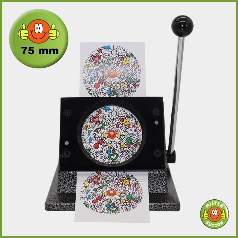 Papierstanze für 75 mm Button-Papiervorlagen