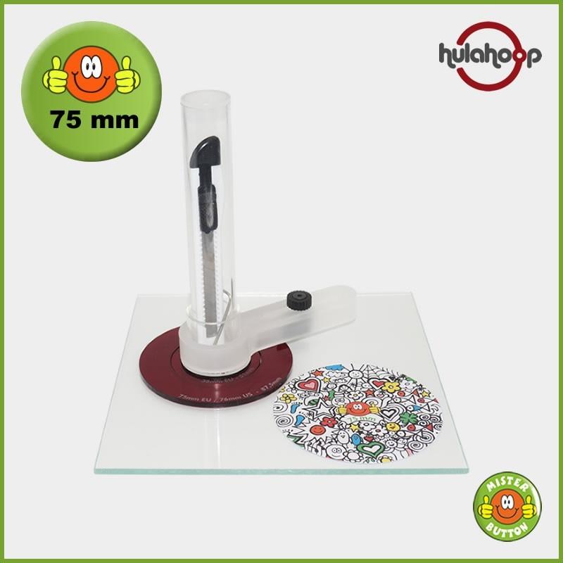 Kreisschneider hulahoop MAXI - für 75 mm Buttons