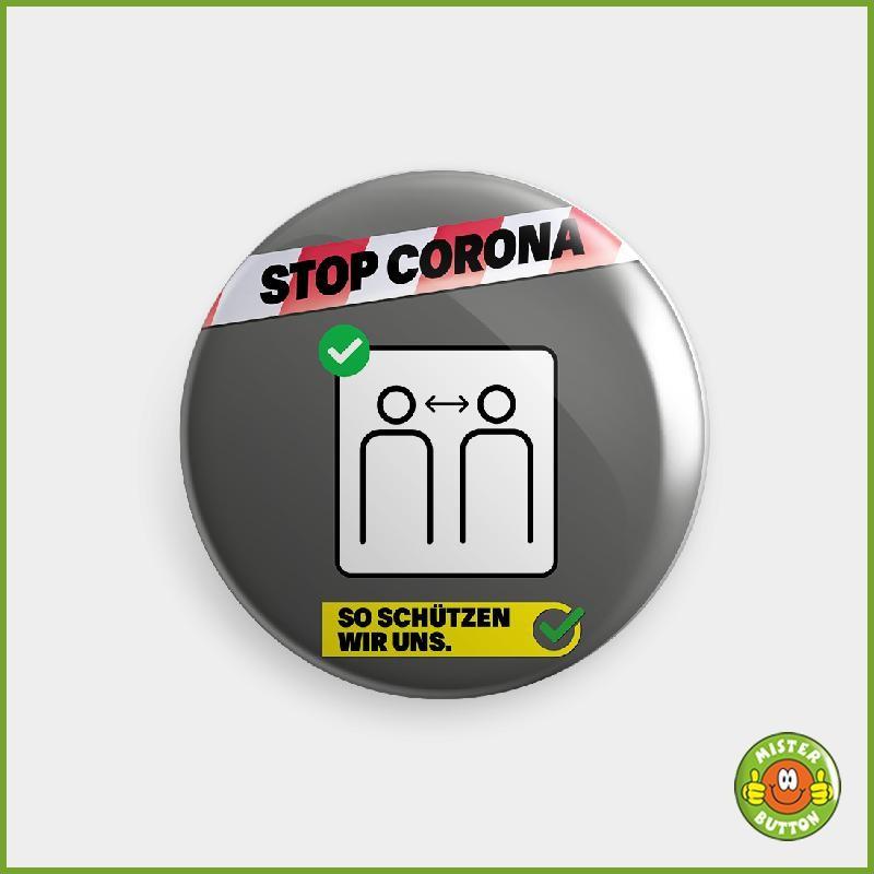COVID-19 Coronavirus Button - Abstand halten Button