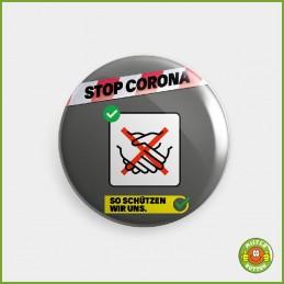 COVID-19 Coronavirus Button - Hände schütteln vermeiden Button