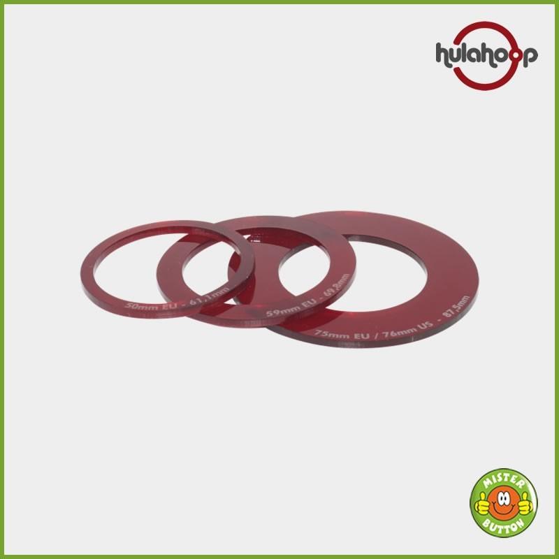 Zusatzschablone für Kreisschneider hulahoop maxi (38 mm, 50 mm, 59 mm und 75 mm Buttons)