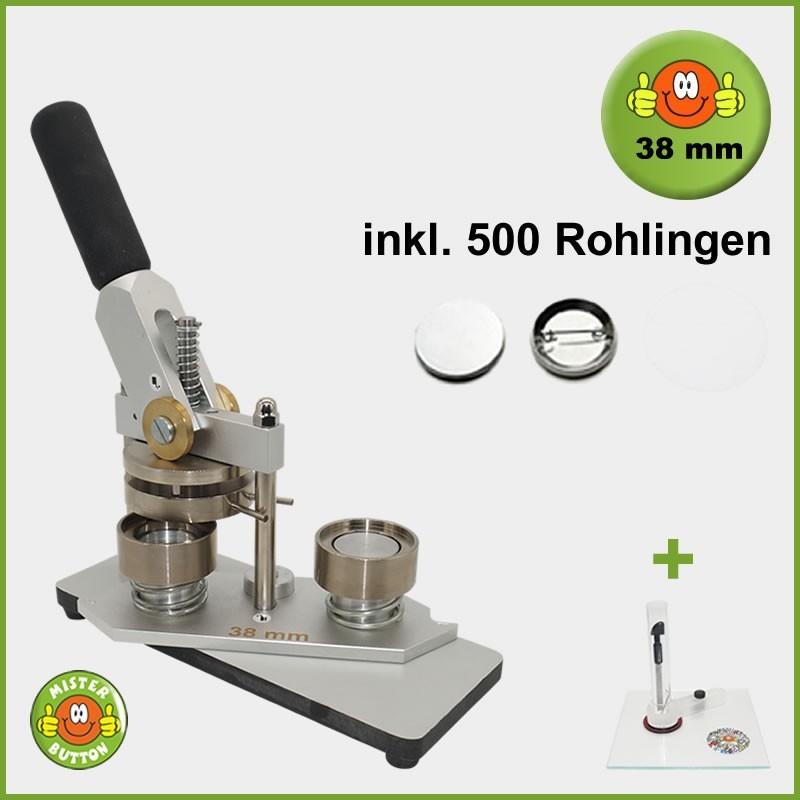 Buttonmaschine Typ 900 für 38 mm Buttons inkl. 500 Rohlinge + Kreisschneider Kreisschneider Hulahoop Maxi
