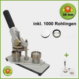 Buttonmaschine Typ 900 für 38 mm Buttons inkl. 1000 Rohlinge + Kreisschneider Kreisschneider Hulahoop Maxi