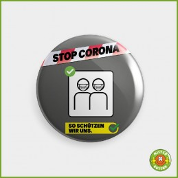 COVID-19 Coronavirus Button - Masken Button