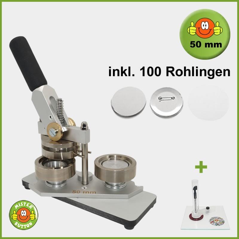 Buttonmaschine Typ 900 für 50 mm Buttons inkl. 100 Rohlinge + Kreisschneider Kreisschneider Hulahoop Maxi