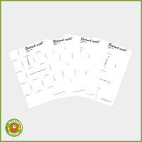 "Buttonpapier-Vorlagen ""Bedruck Mich"" DIN A4"